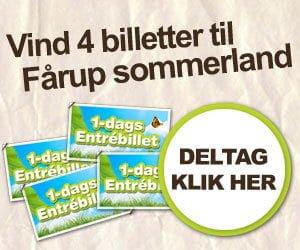 Vind 4 billetter til Fårup Sommerland