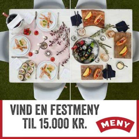 Vind en festmeny til 15.000 kr. med Meny