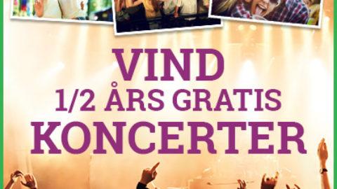 Vind koncertbilletter i et halvt år