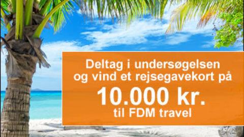 Vind 10.000 kr. til FDM travel