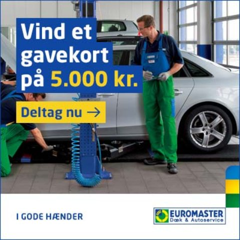 Euromaster konkurrence – vind 4 nye dæk for 5.000 kr.