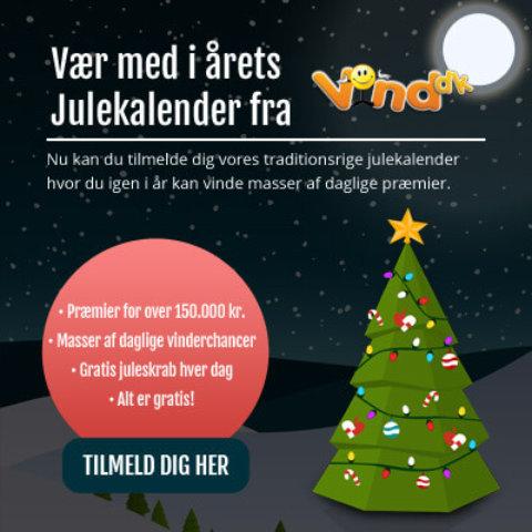 Vind.dk julekalender 2017 – Vind præmier for over 150.000 kr.