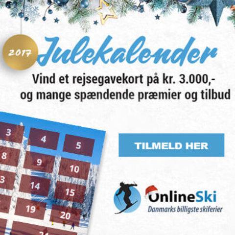 Onlineski julekalender – Vind udstyr og rejse i onlineski konkurrencen