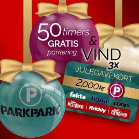 ParkPark konkurrence – vind 3x julegavekort af 2.000 kr. pr. stk.