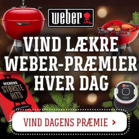 Weber julekalender – Vind grill og grilltilbehør i Weber konkurrencen