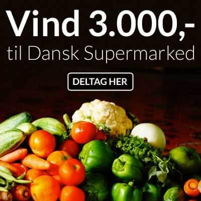 Vind 3000 kr. til Dansk Supermarked